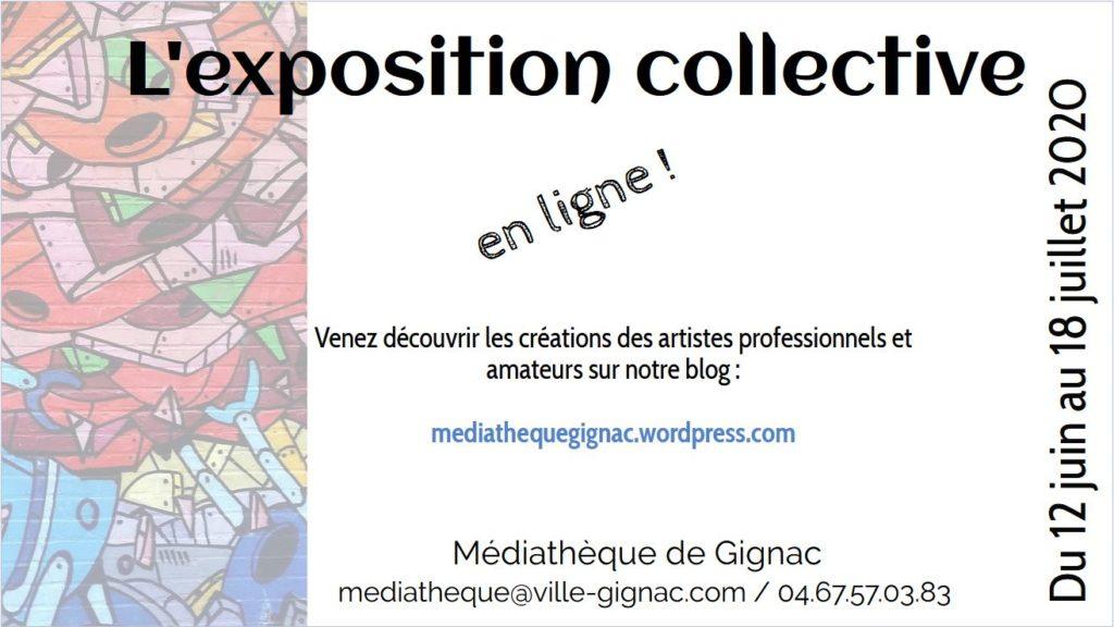 affiche exposition en ligne Gignac